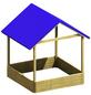 TraumGarten Sandkasten »MORITZ «, BxLxH: 134 x 134 cm-Thumbnail