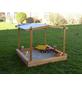 PROMADINO Sandkasten »Multi«, BxL: 140 x 140 cm, kiefernholz|polyethylen_pe honigbraun-Thumbnail