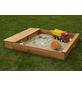 PROMADINO Sandkasten-Sitzbox »Multi«, BxL: 140 x 32 cm, Kiefernholz honigbraun-Thumbnail