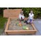 PROMADINO Sandkasten »Tessa«, BxL: 100 x 100 cm, Kiefernholz honigbraun-Thumbnail