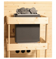 WOODFEELING Sauna »Anja«, BxTxH: 196 x 170 x 170 cm, 9 kw, Bio-Kombi-Saunaofen, ext. Steuerung-Thumbnail