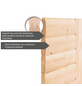 WOODFEELING Sauna »Anja«, BxTxH: 224 x 184 x 184 cm, 9 kw, Saunaofen, int. Steuerung-Thumbnail