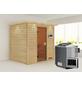 WOODFEELING Sauna »Anja«, inkl. 9 kW Bio-Kombi-Saunaofen mit externer Steuerung für 3 Personen-Thumbnail