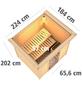 WOODFEELING Sauna »Anja«, inkl. 9 kW Saunaofen mit externer Steuerung für 3 Personen-Thumbnail