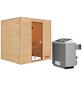 WOODFEELING Sauna »Anja«, inkl. 9 kW Saunaofen mit integrierter Steuerung für 3 Personen-Thumbnail