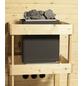 KARIBU Sauna »Baldohn«, BxTxH: 196 x 146 x 146 cm, 3,6 kw, Plug&Play-Saunaofen, ext. Steuerung-Thumbnail