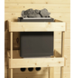 KARIBU Sauna »Baldohn«, BxTxH: 224 x 160 x 160 cm, 3,6 kw, Plug&Play-Saunaofen, int. Steuerung-Thumbnail