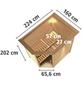 KARIBU Sauna »Baldohn« mit Ofen, integrierte Steuerung-Thumbnail