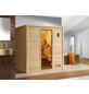 WEKA Sauna »Bergen«, inkl. 7.5 kW Saunaofen mit integrierter Steuerung für 2 Personen-Thumbnail
