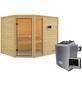 WOODFEELING Sauna »Fjella«, inkl. 4.5 kW Saunaofen mit externer Steuerung für 4 Personen-Thumbnail
