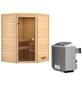 WOODFEELING Sauna »Franka«, BxTxH: 146 x 146 x 146 cm, 9 kw, Saunaofen, int. Steuerung-Thumbnail