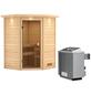 WOODFEELING Sauna »Franka«, BxTxH: 174 x 160 x 160 cm, 9 kw, Saunaofen, int. Steuerung-Thumbnail