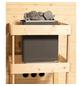 KARIBU Sauna »Haaspsalu«, BxTxH: 245 x 210 x 210 cm, 9 kw, Saunaofen, int. Steuerung-Thumbnail