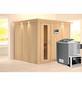 KARIBU Sauna »Jöhvi« inkl. 9 kW Bio-Kombi-Saunaofen mit externer Steuerung für 4 Personen-Thumbnail