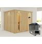KARIBU Sauna »Jöhvi«, inkl. 9 kW Saunaofen mit externer Steuerung für 4 Personen-Thumbnail