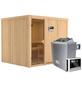 KARIBU Sauna »Jöhvi«, mit Ofen, externe Steuerung-Thumbnail