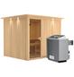 KARIBU Sauna »Jöhvi«, mit Ofen, integrierte Steuerung-Thumbnail