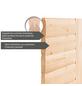 KARIBU Sauna »Kärdla«, BxTxH: 236 x 184 x 184 cm, 9 kw, Saunaofen, int. Steuerung-Thumbnail