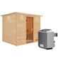 WOODFEELING Sauna »Karla«, BxTxH: 259 x 210 x 210 cm, 9 kw, Saunaofen, int. Steuerung-Thumbnail