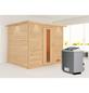 WOODFEELING Sauna »Karla«, mit Ofen, integrierte Steuerung-Thumbnail