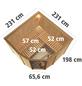 KARIBU Sauna »Keila 3«, BxTxH: 231 x 231 x 231 cm, 9 kw, Saunaofen, ext. Steuerung-Thumbnail