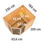 KARIBU Sauna »Kohila 3«, BxTxH: 236 x 184 x 184 cm, 9 kw, Saunaofen, int. Steuerung-Thumbnail