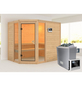 KARIBU Sauna »Kohila 3«, mit Ofen, externe Steuerung-Thumbnail
