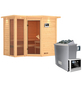 KARIBU Sauna »Kunda«, mit Ofen, externe Steuerung-Thumbnail