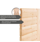 WOODFEELING Sauna »Leona«, BxTxH: 231 x 231 x 198 cm, ohne Saunaofen-Thumbnail