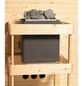 WOODFEELING Sauna »Leona«, BxTxH: 231 x 231 x 231 cm, 9 kw, Bio-Kombi-Saunaofen, ext. Steuerung-Thumbnail