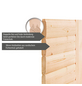 WOODFEELING Sauna »Leona«, BxTxH: 259 x 245 x 245 cm, 9 kw, Bio-Kombi-Saunaofen, ext. Steuerung-Thumbnail