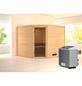 WOODFEELING Sauna »Leona«, mit Ofen, integrierte Steuerung-Thumbnail