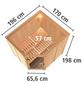 KARIBU Sauna »Maardu«, BxTxH: 196 x 170 x 198 cm, ohne Saunaofen-Thumbnail