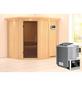 KARIBU Sauna »Maardu«, BxTxH: 210 x 184 x 184 cm, 9 kw, Bio-Kombi-Saunaofen, ext. Steuerung-Thumbnail