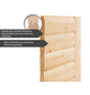 WOODFEELING Sauna »Malyn«, BxTxH: 196 x 196 x 196 cm, 4,5 kw, Bio-Kombi-Saunaofen, ext. Steuerung-Thumbnail
