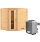 WOODFEELING Sauna »Mia«, BxTxH: 196 x 170 x 170 cm, 9 kw, Saunaofen, int. Steuerung-Thumbnail