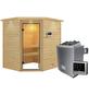 WOODFEELING Sauna »Mia«, BxTxH: 224 x 184 x 184 cm, 9 kw, Saunaofen, ext. Steuerung-Thumbnail
