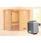 WOODFEELING Sauna »Mia«, inkl. 9 kW Saunaofen mit integrierter Steuerung für 3 Personen-Thumbnail