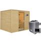 WOODFEELING Sauna »Midja«, inkl. 4.5 kW Saunaofen mit externer Steuerung für 4 Personen-Thumbnail