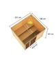 WOODFEELING Sauna »Monnja«, BxTxH: 230 x 195 x 195 cm, 4,5 kw, Bio-Kombi-Saunaofen, ext. Steuerung-Thumbnail