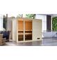 WOODFEELING Sauna »Monnja«, BxTxH: 231 x 196 x 187 cm, ohne Saunaofen-Thumbnail