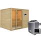 WOODFEELING Sauna »Monnja«, BxTxH: 231 x 196 x 196 cm, 4,5 kw, Saunaofen, ext. Steuerung-Thumbnail