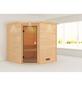 WOODFEELING Sauna »Nina«, BxTxH: 224 x 210 x 202 cm, ohne Saunaofen-Thumbnail