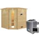 WOODFEELING Sauna »Nina«, BxTxH: 224 x 210 x 210 cm, 9 kw, Saunaofen, ext. Steuerung-Thumbnail