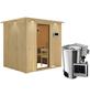 KARIBU Sauna »Olai«, inkl. 3.6 kW Plug&Play-Saunaofen mit externer Steuerung für 3 Personen-Thumbnail