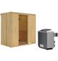 KARIBU Sauna »Pärnu«, inkl. 9 kW Saunaofen mit integrierter Steuerung für 2 Personen-Thumbnail