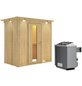 KARIBU Sauna »Pärnu«, mit Ofen, integrierte Steuerung-Thumbnail