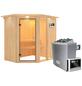 KARIBU Sauna »Paide 1« mit Ofen, externe Steuerung-Thumbnail