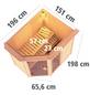 KARIBU Sauna »Paide 1«, mit Ofen, externe Steuerung-Thumbnail
