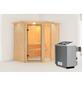 KARIBU Sauna »Paide 1«, mit Ofen, integrierte Steuerung-Thumbnail